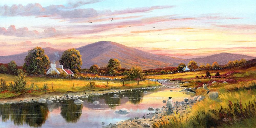 Cottage In The Sperrins Print (0050)