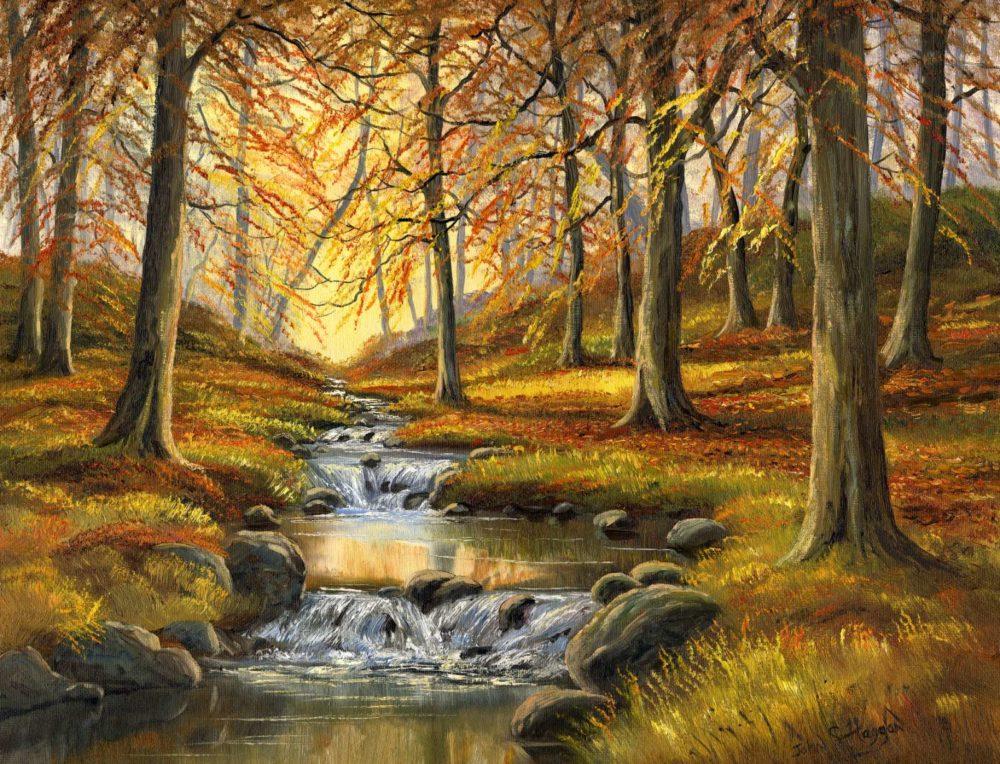 Autumn Stream Print (0069)