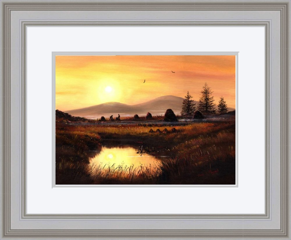 As Evening Falls Print (Large) in Grey Frame