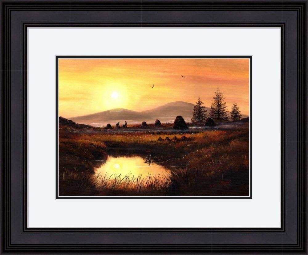 As Evening Falls Print (Large) in Black Frame