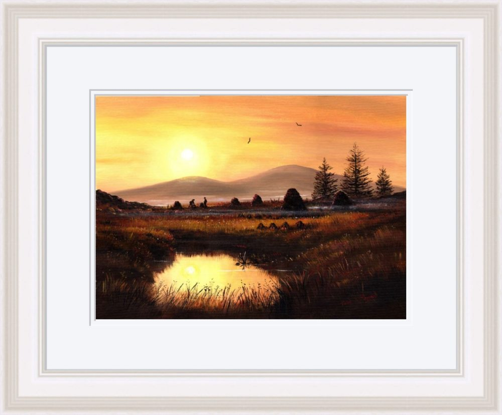 As Evening Falls Print (Large) in White Frame