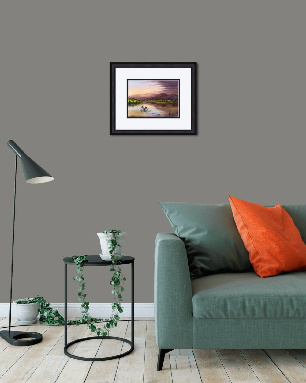 Dundrum Bay Print (Small) in Black Frame in Room