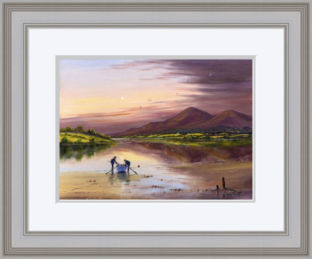 Dundrum Bay Print (Large) in Grey Frame