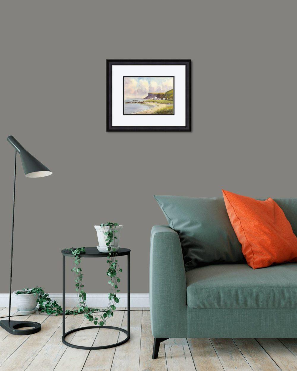 Fair Head Print (Small) in Black Frame in Room