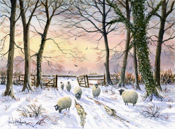 Woodland Snow Print (0109)