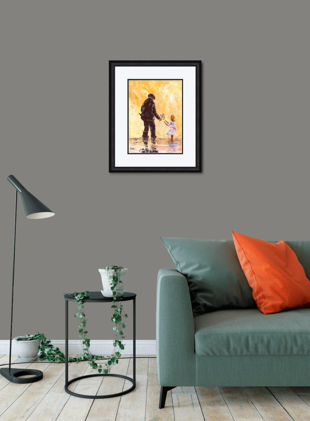 Granda's Girl Print (Medium) in Black Frame in Room