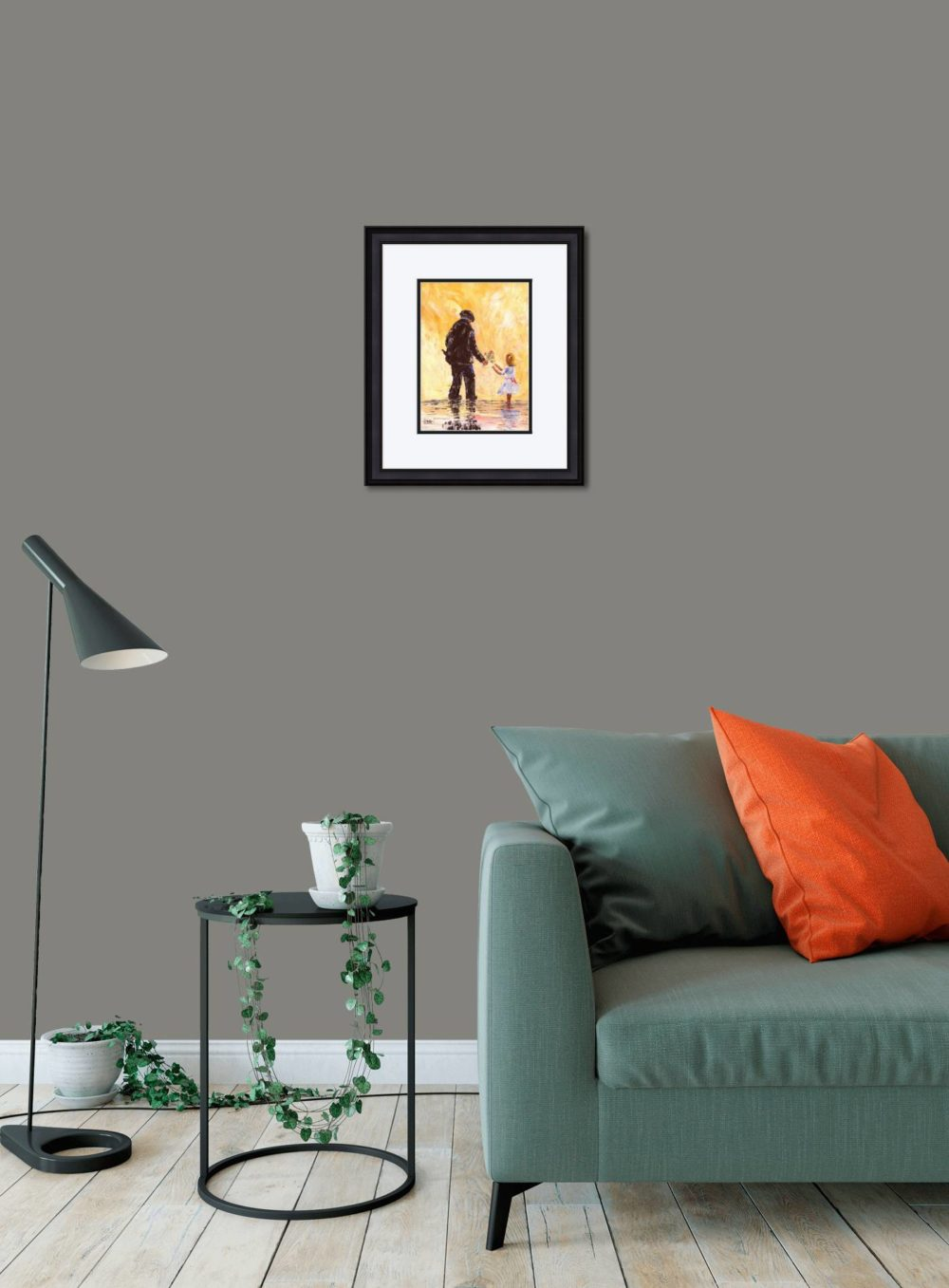 Granda's Girl Print (Small) in Black Frame in Room