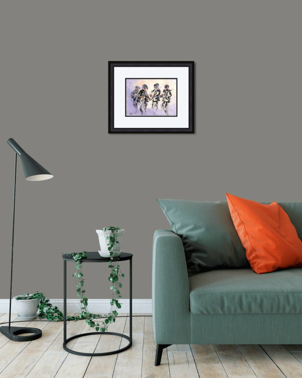 Fiddlers Four Print (Small) in Black Frame in Room