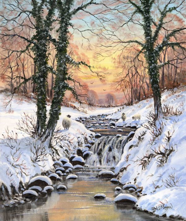 Winter Sunset Print (0129)