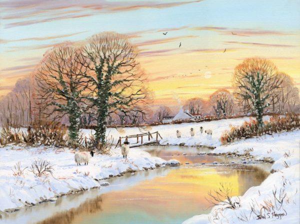 Morning Snow Print (0130)
