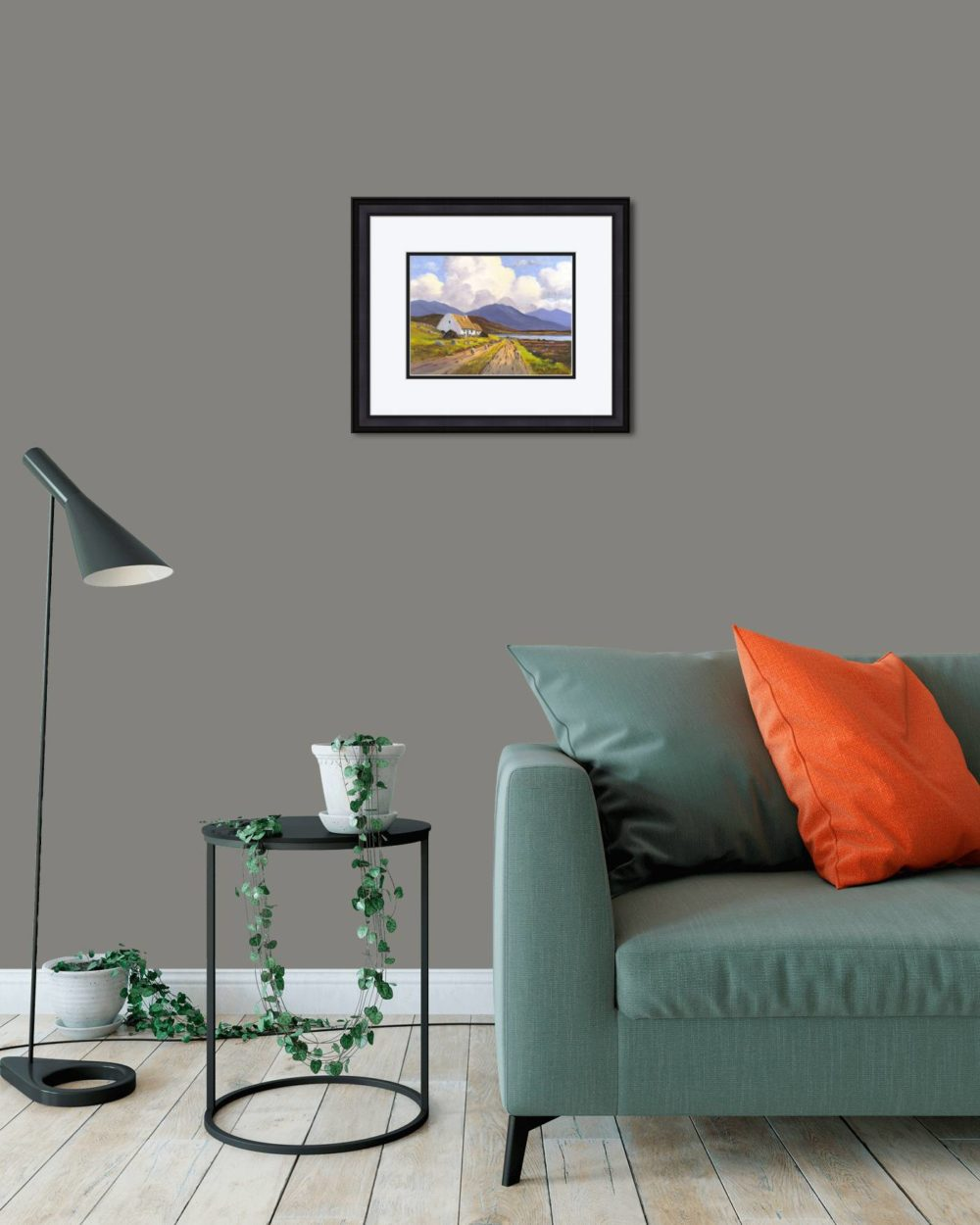 Connemara Cottage Print (Small) in Black Frame in Room