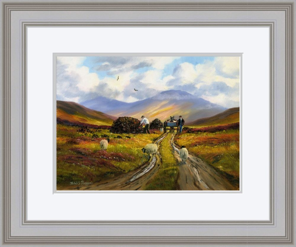 Collecting The Turf Print (Large) in Grey Frame