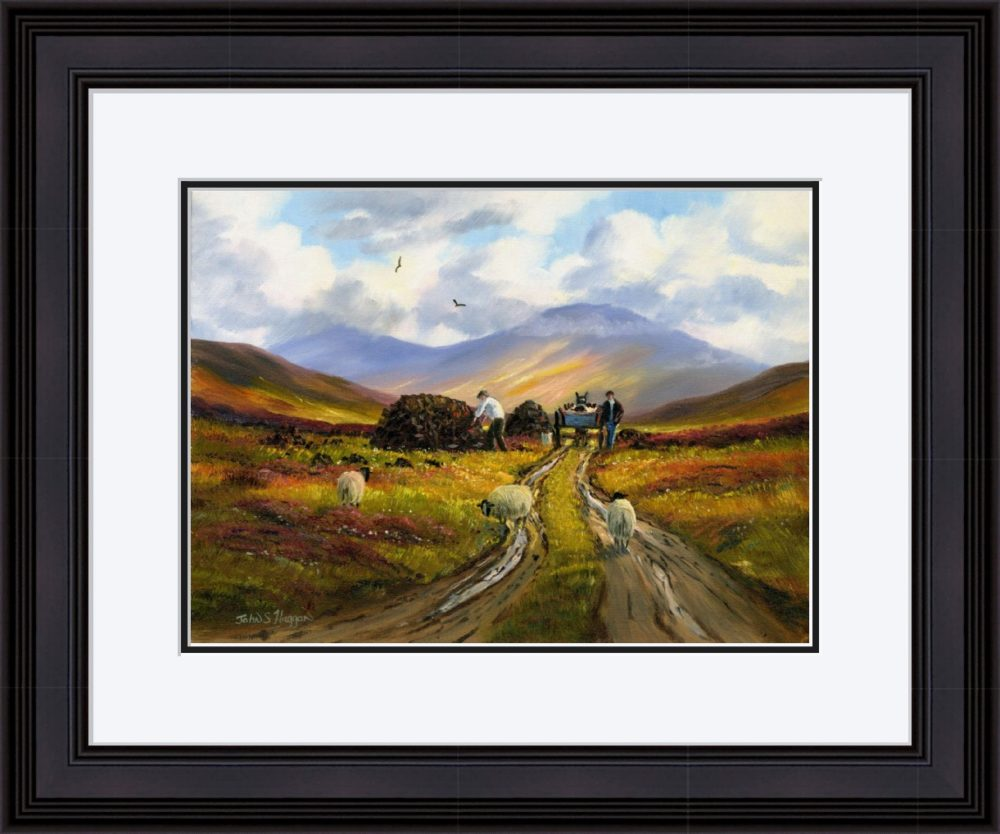 Collecting The Turf Print (Large) in Black Frame