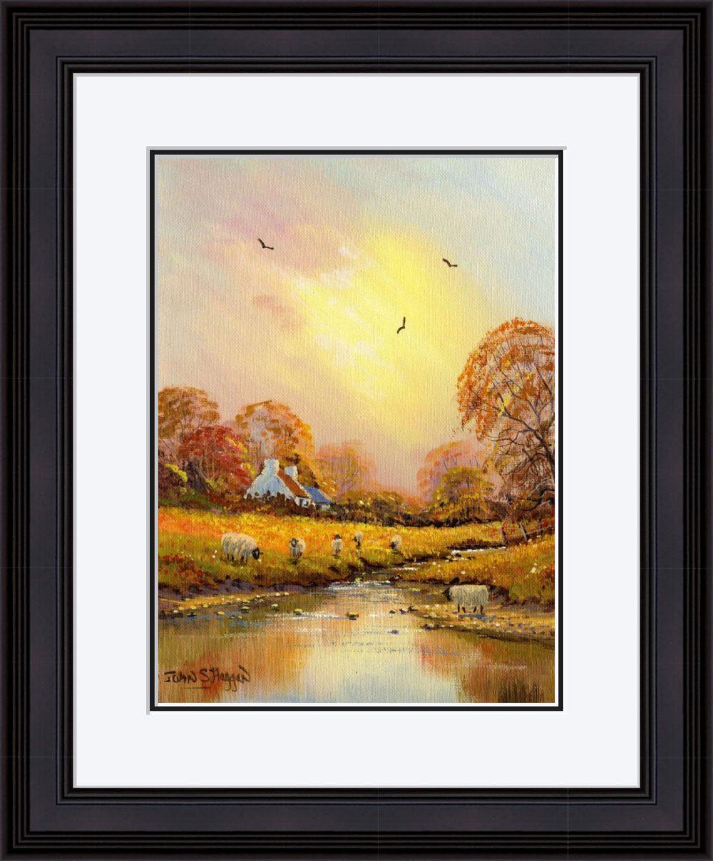 Autumn Stream Print (Large) in Black Frame