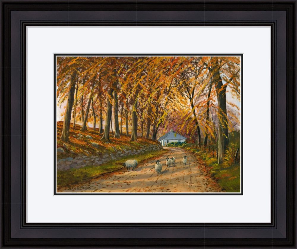 Autumn At Wellbrook Print (Large) in Black Frame