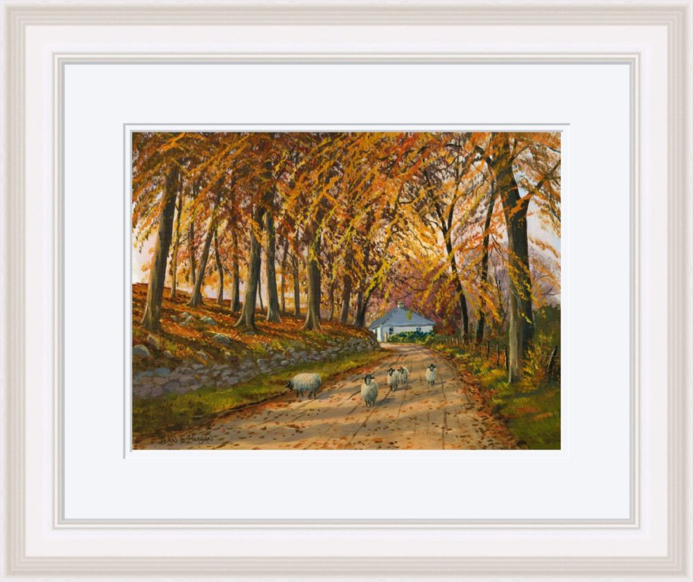 Autumn At Wellbrook Print (Large) in White Frame