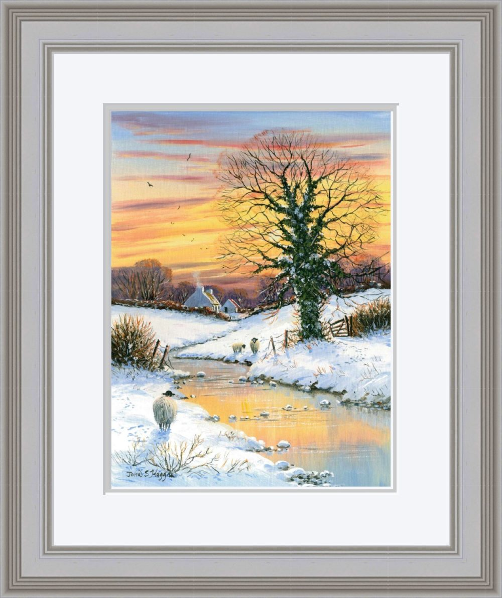 First Snows Of Winter Print (Large) in Grey Frame