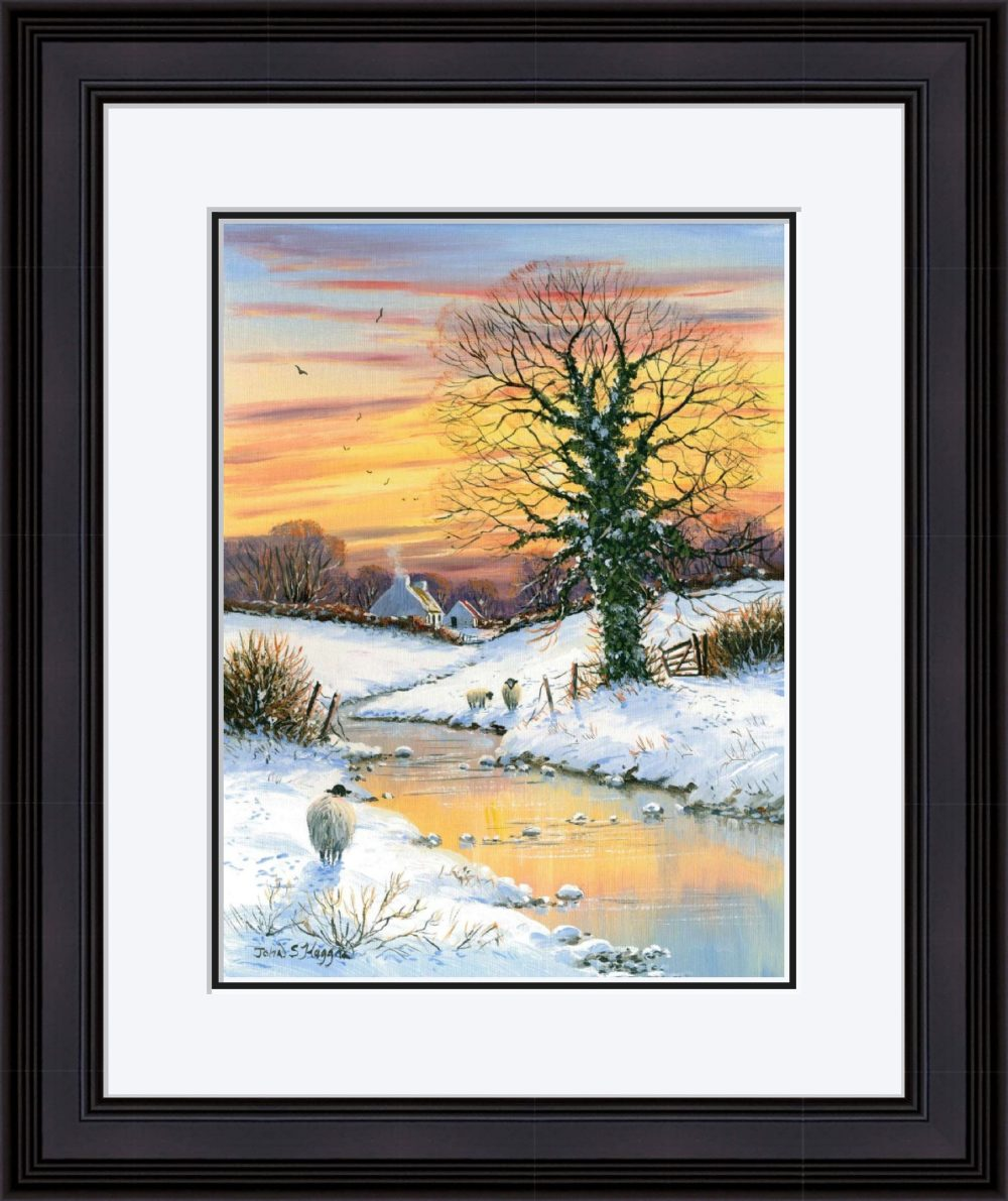 First Snows Of Winter Print (Large) in Black Frame