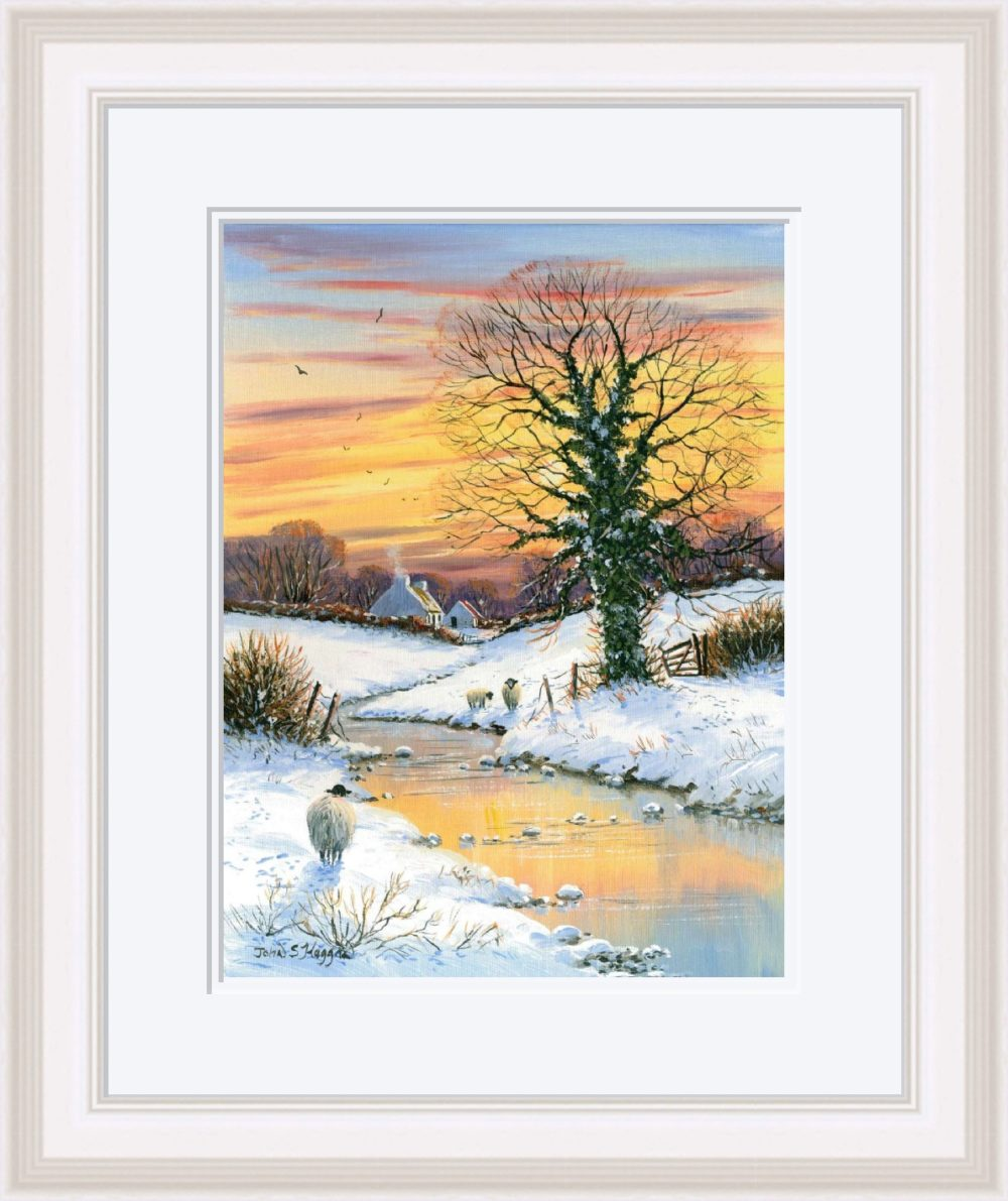 First Snows Of Winter Print (Large) in White Frame
