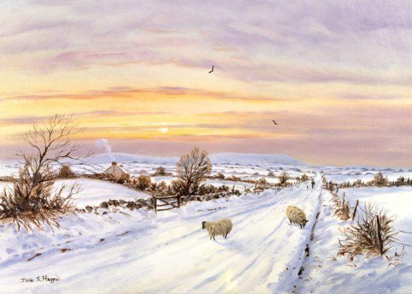 Winter Evening Near Slieve Gallion Print (0212)