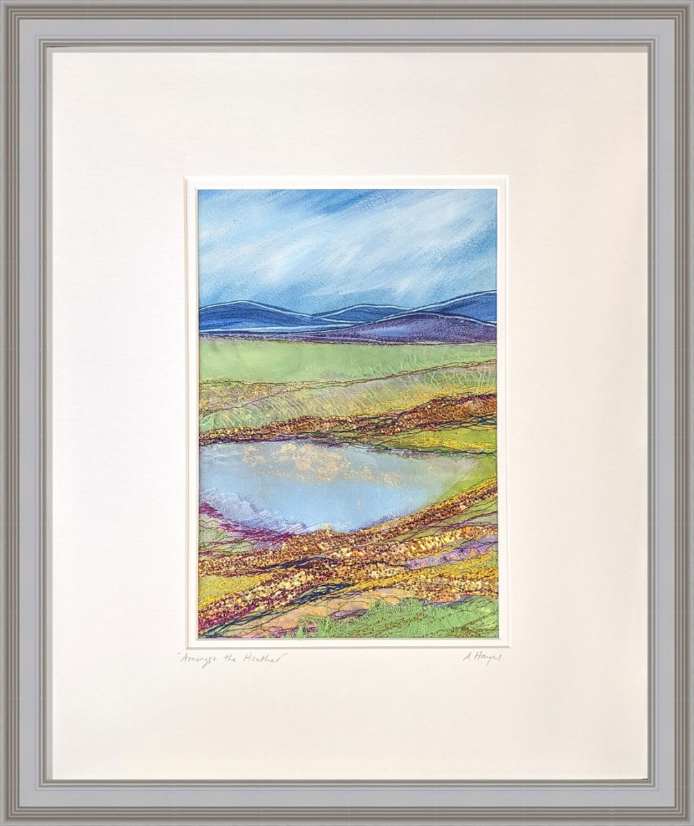 Amongst The Heather in Grey Frame
