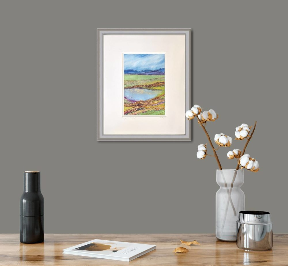 Amongst The Heather in Grey Frame in Room