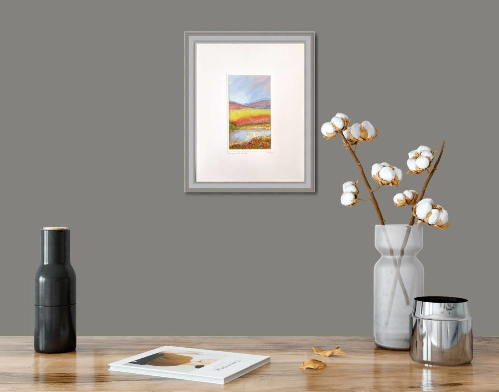 Amongst The Heather II in Grey Frame in Room