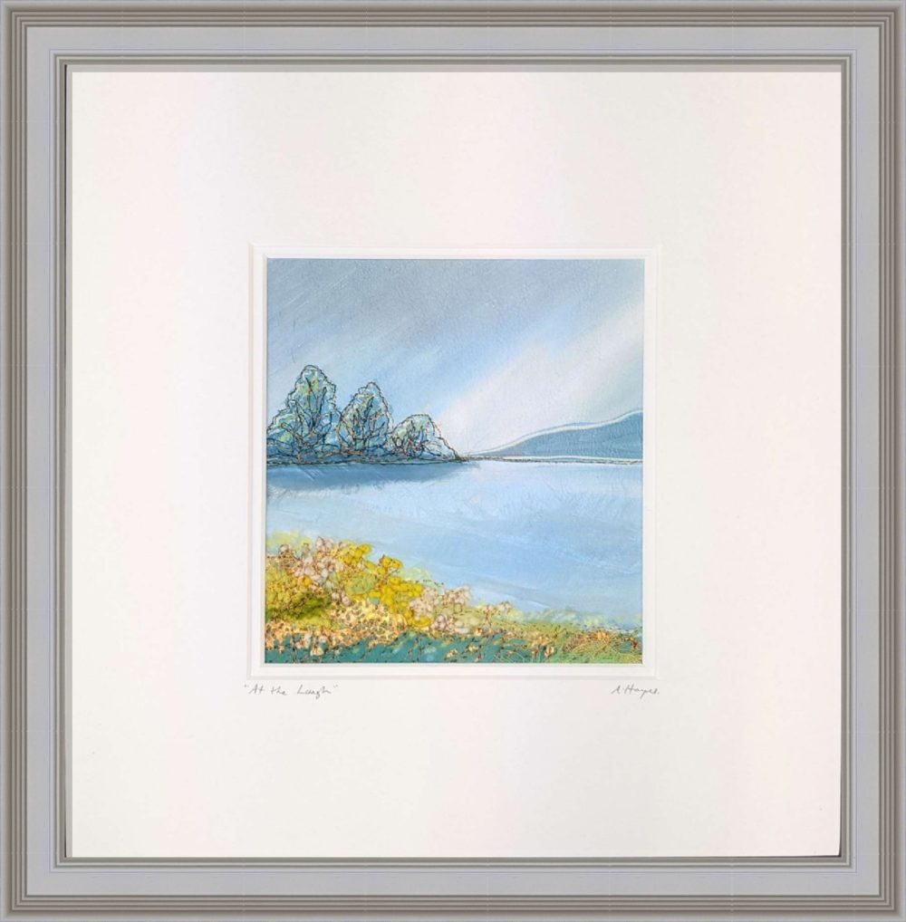 At The Lough in Grey Frame