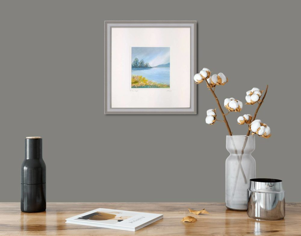 At The Lough in Grey Frame in Room