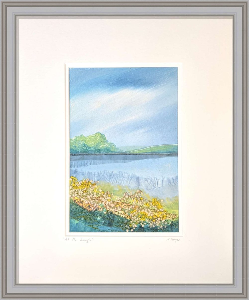 At The Lough II in Grey Frame