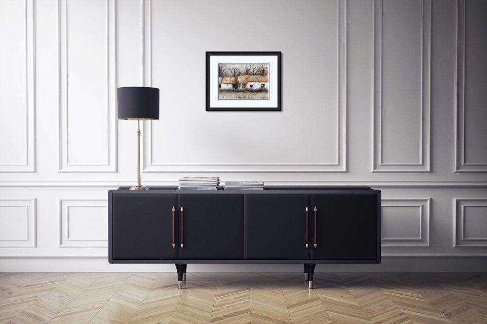 Ballinderry Treasure in Black Frame in Room