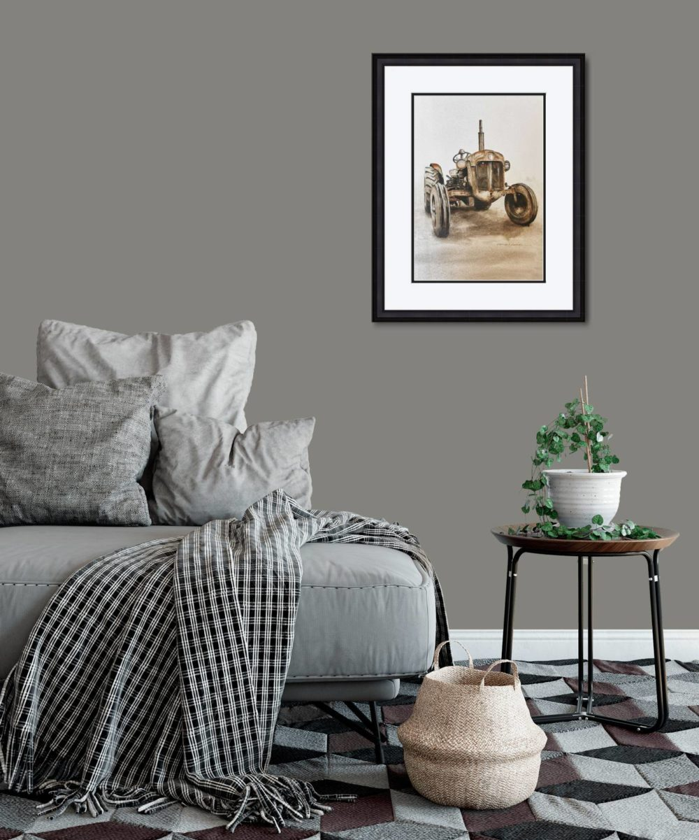Going Strong in Black Frame in Room