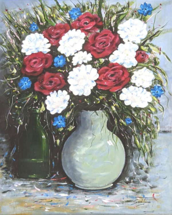 Cornflowers and Roses