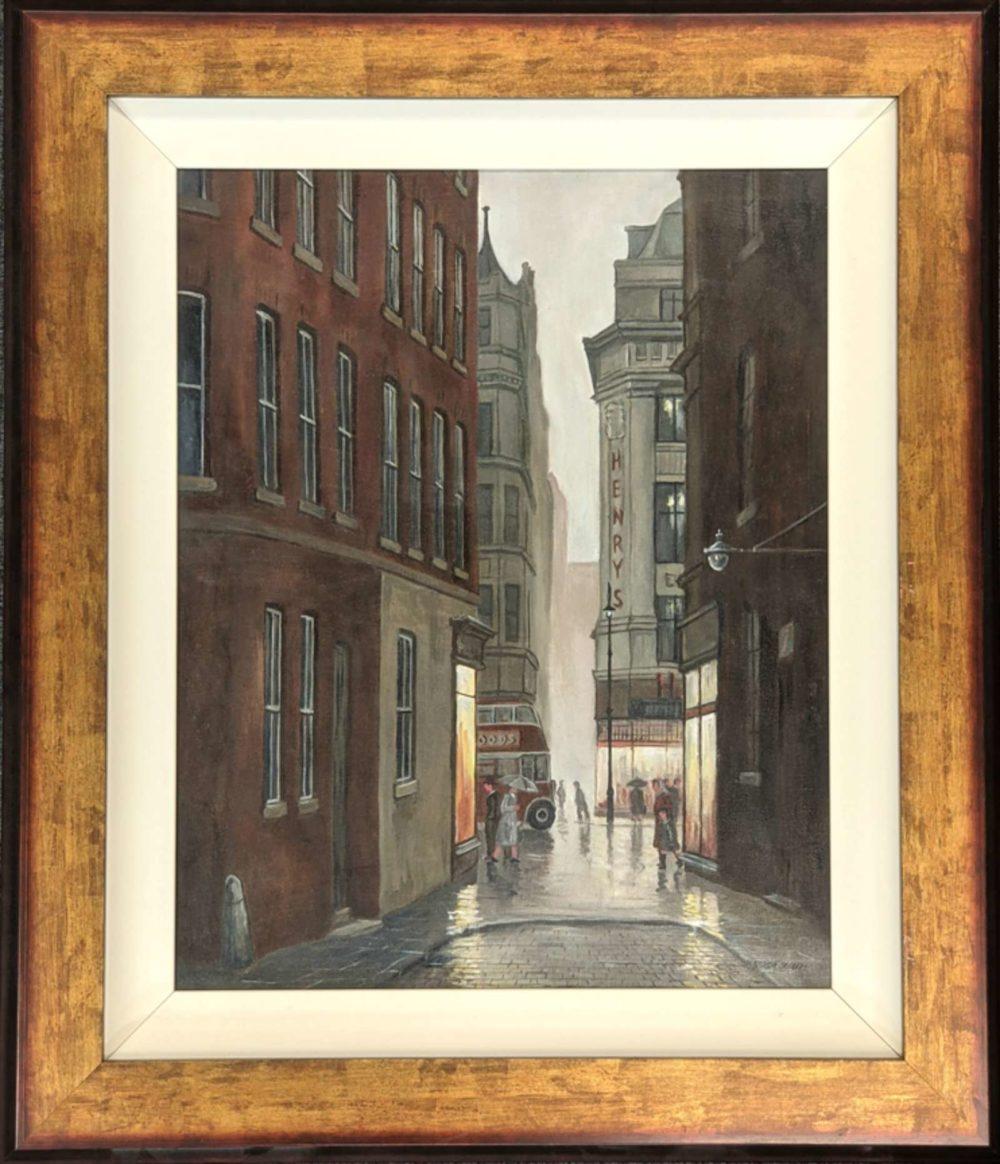 Market Street Manchester 1962 Framed