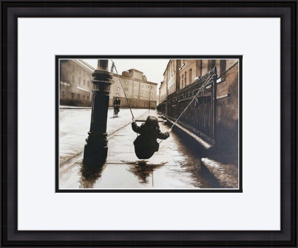 Street Games in Black Frame