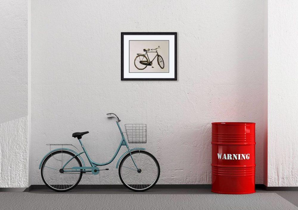 The Bike in Black Frame in Room