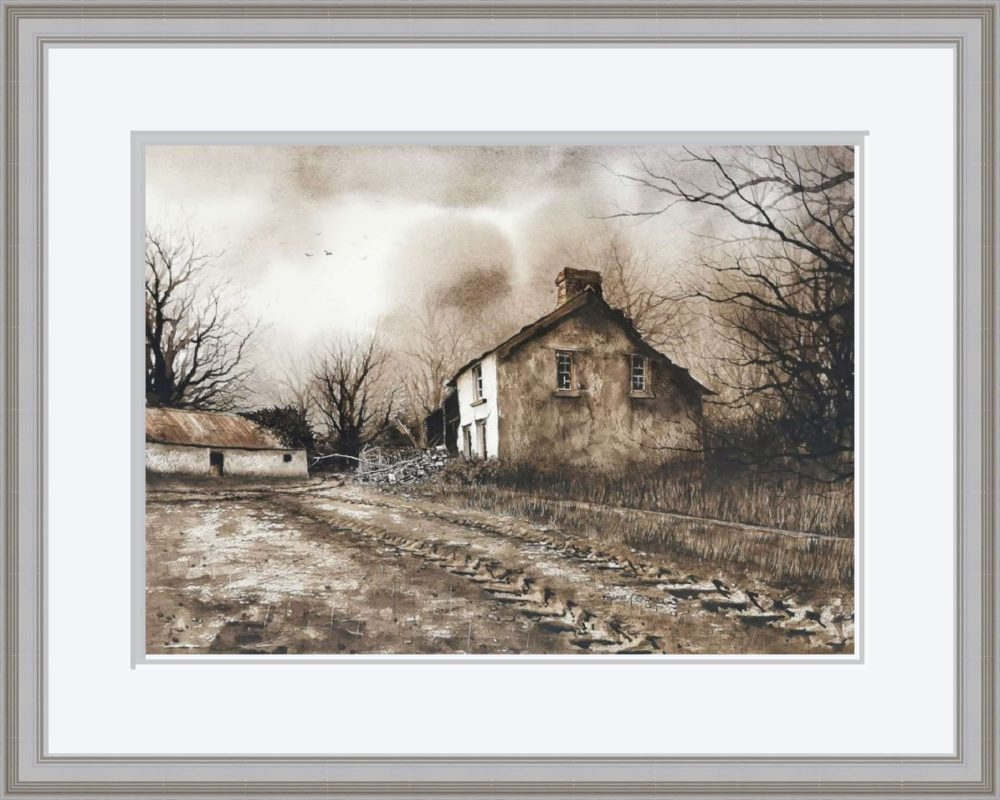 The Old Place in Grey Frame