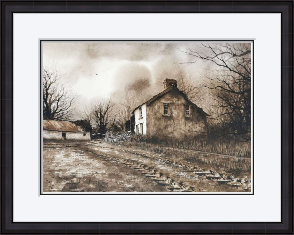 The Old Place in Black Frame