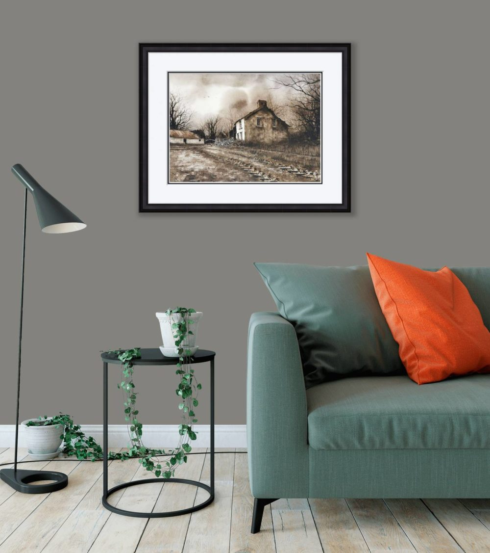 The Old Place in Black Frame in Room