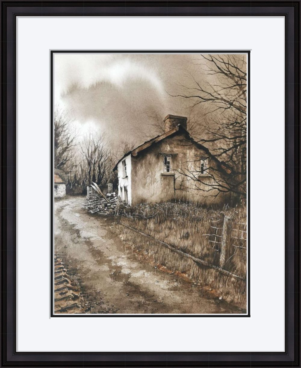 The Old Place II in Black Frame