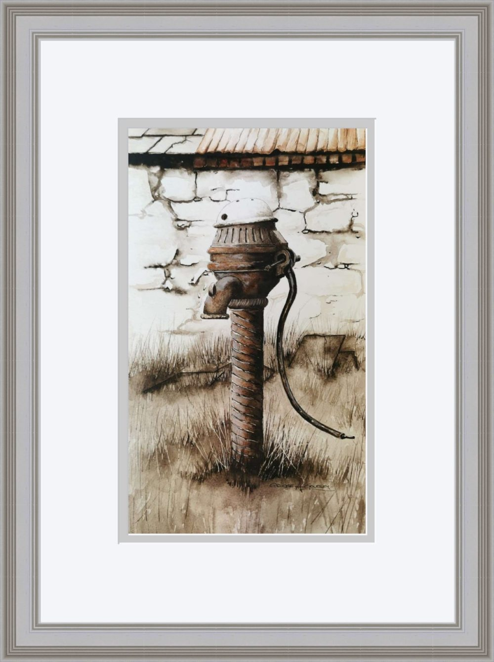 The Old Pump in Grey Frame