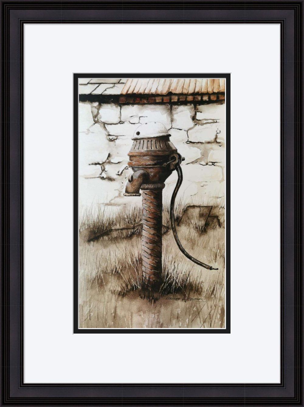 The Old Pump in Black Frame