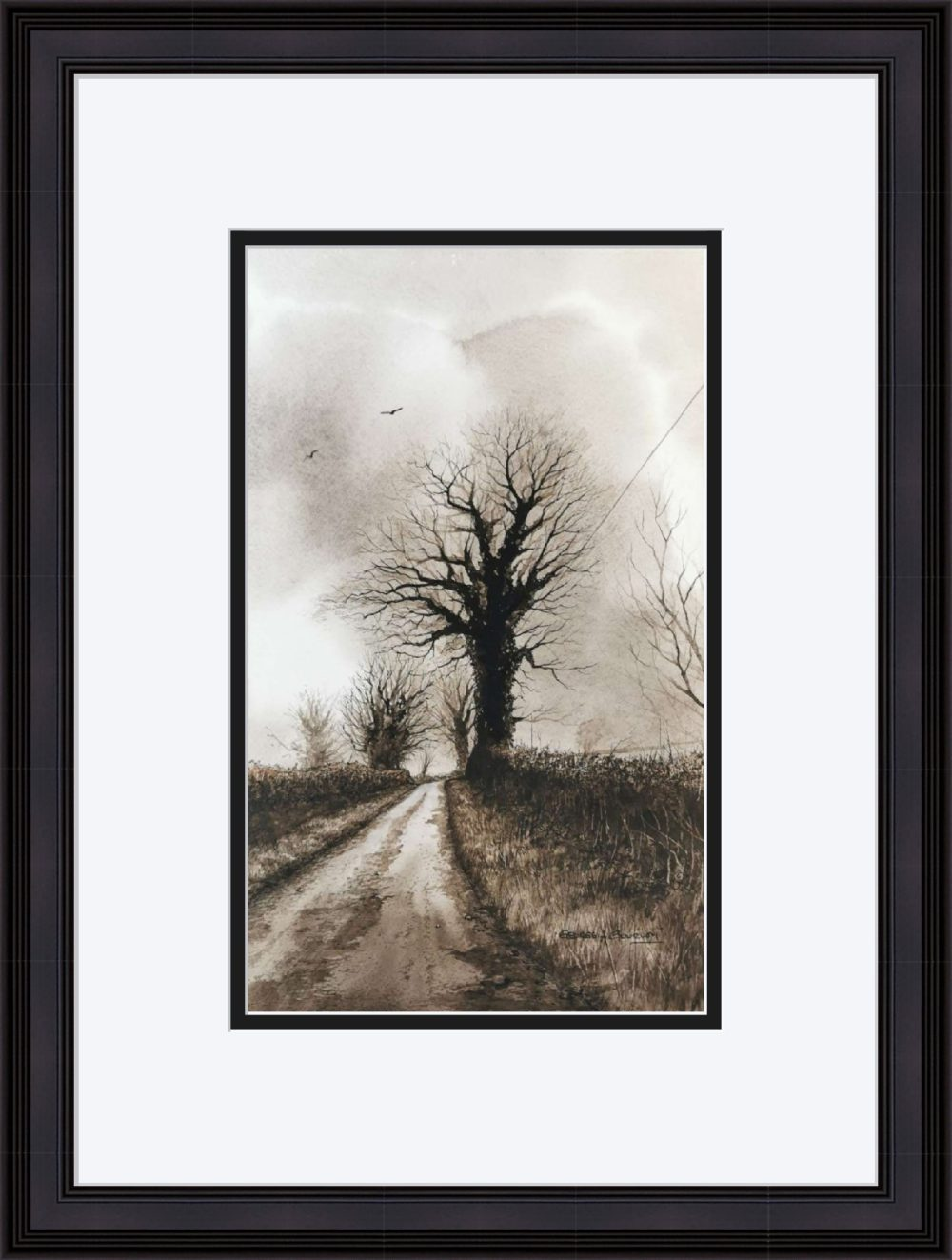 Up The Lane in Black Frame