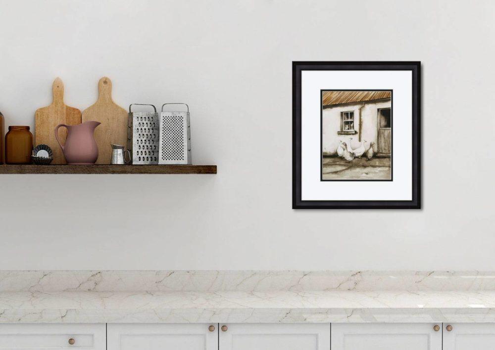 Watermen in Black Frame in Room