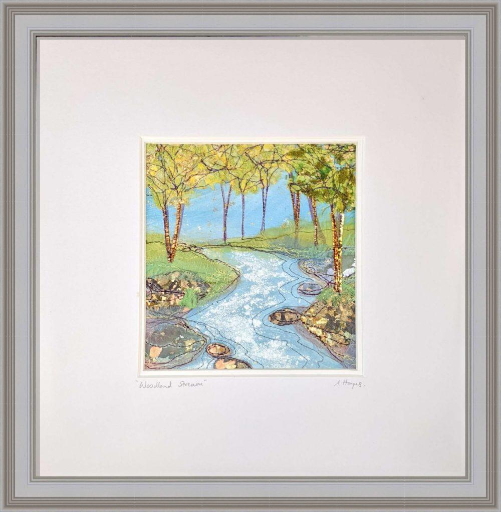 Woodland Stream in Grey Frame