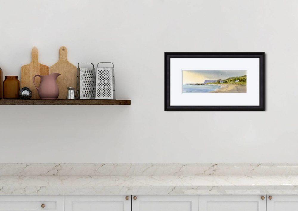 Fair Head Print in Black Frame in Room