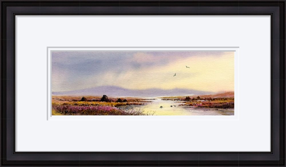 After The Storm Connemara Print in Black Frame