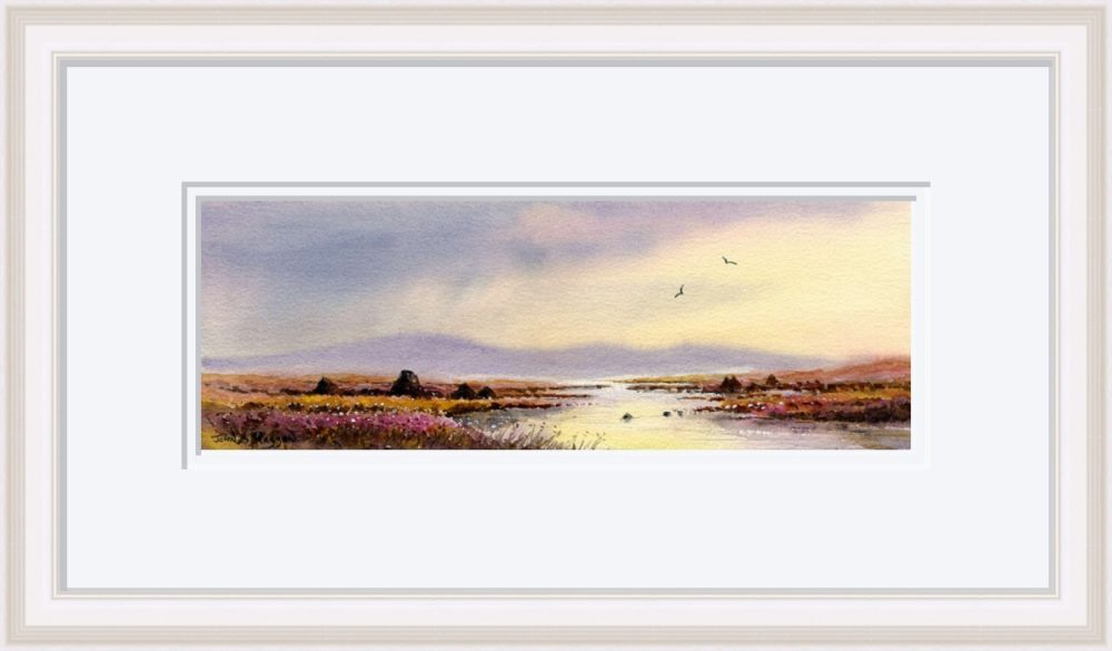 After The Storm Connemara Print in White Frame
