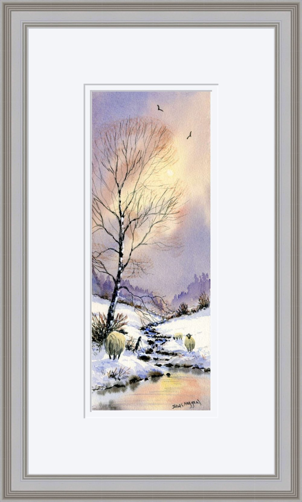 Early Snow Print in Grey Frame