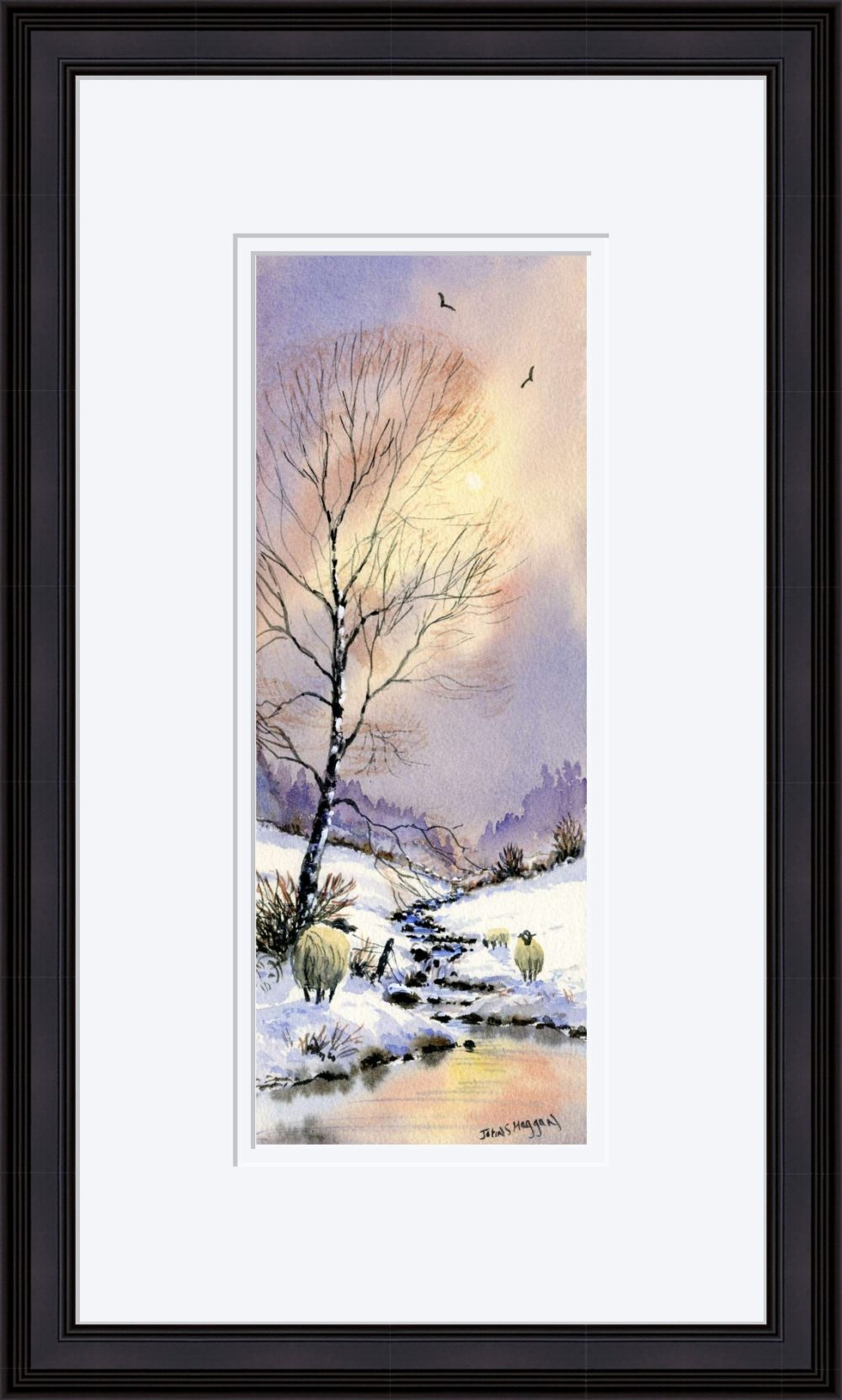 Early Snow Print in Black Frame